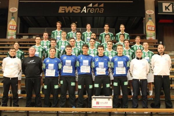 Mannschaftsfoto U19 FRISCH AUF! Göppingen 2013/14