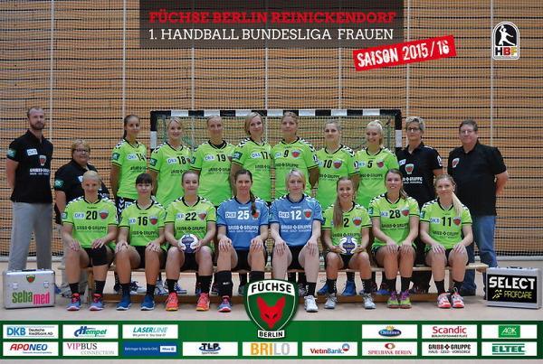 Mannschaftsfoto, Mannschaftsbild, Teamfoto, Teambild, Team Füchse Berlin, Spreefüxxe