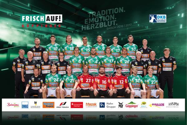 Frisch Auf Göppingen, Mannschaftsfoto Saison 2016/17