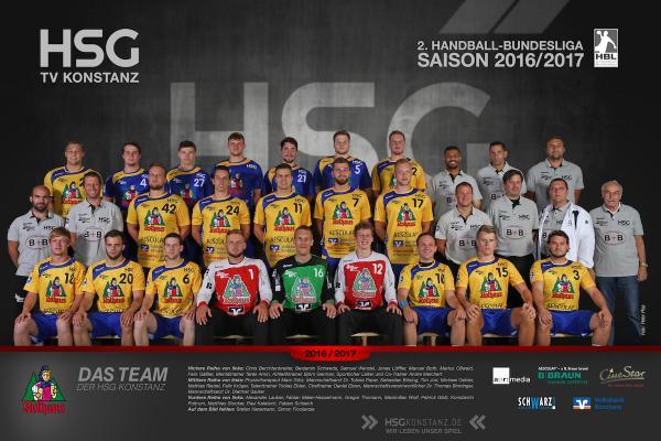HSG Konstanz, Mannschaftsfoto Saison 2016/17