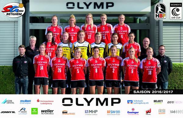 Teamfoto 2016/17 - SG BBM Bietigheim