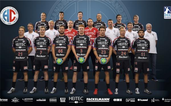 HC Erlangen, Mannschaftsfoto Saison 2016/17