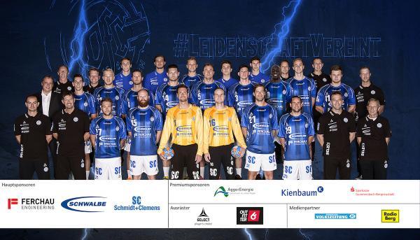 VfL Gummersbach, Mannschaftsbild Saison 2016/17