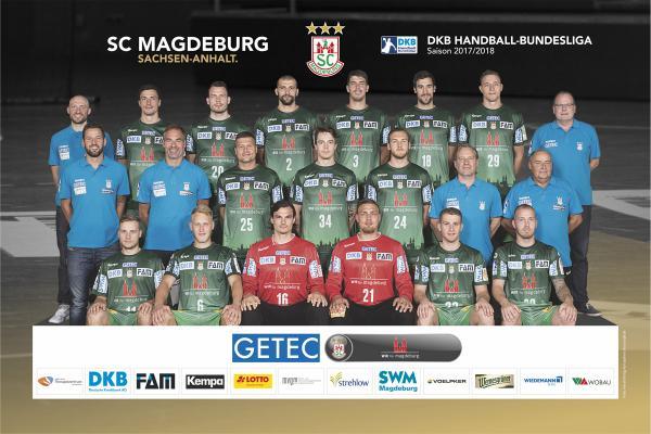 Teamfoto SC Magdeburg 2017/2018