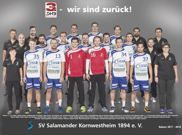 SV Salamander Kornwestheim, Mannschaftsfoto Saison 2017/18