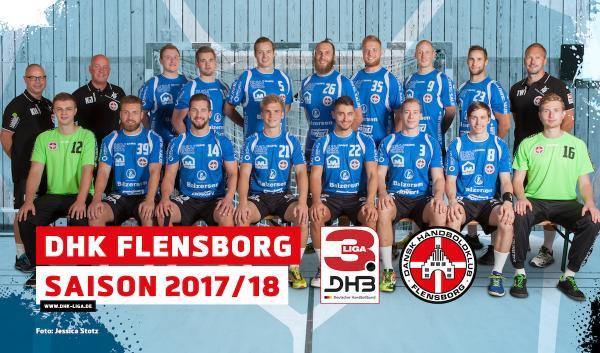DHK Flensborg, Mannschaftsfoto 2017/18 3. Liga Nord