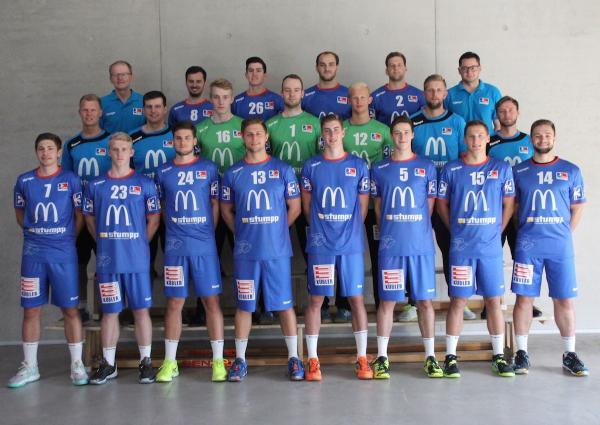 HBW Balingen-Weilstetten II, HBW Balingen-Weilstetten U23, Jung-Gallier, Mannschaftsfoto 2017/18 3. Liga Süd