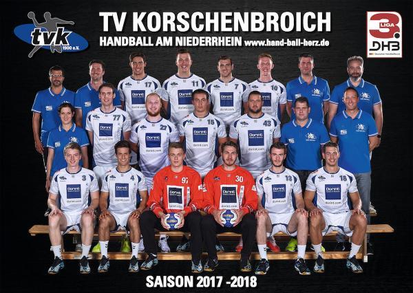 TV Korschenbroich, Mannschaftsfoto 2017/18 3. Liga West