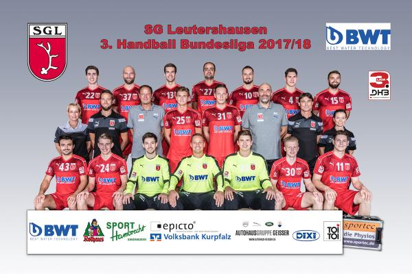 SG Leutershausen, Mannschaftsfoto 2017/18 3. Liga Ost
