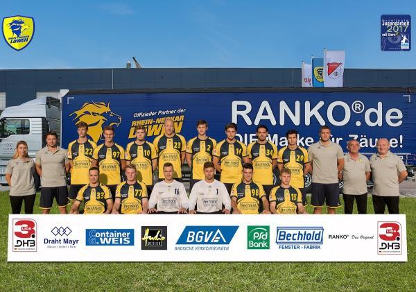 Rhein-Neckar Löwen II, Rhein-Neckar Löwen U23, Mannschaftsfoto 2017/18 3. Liga Süd