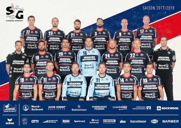 SG Flensburg-Handewitt, Mannschaftsfoto Saison 2017/18
