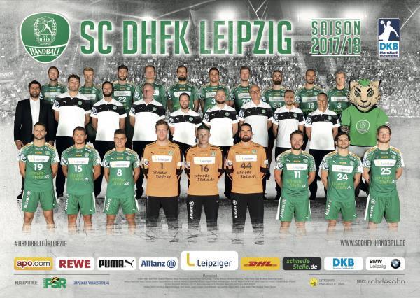 SC DHfK Leipzig, Mannschaftsfoto Saison 2017/18 neu