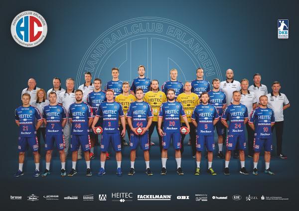 HC Erlangen, Mannschaftsfoto Saison 2017/18