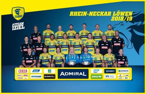 Rhein-Neckar Löwen - Teamfoto HBL1 2018/19