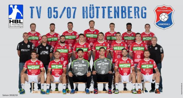 TV Hüttenberg, Teamfoto HBL2 2018/19