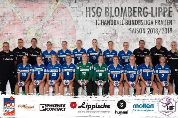 HSG Blomberg-Lippe - Teamfoto - HBF1 2018/19