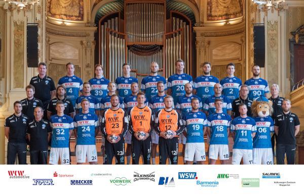 Bergischer HC, BHC, Mannschaftsfoto DKB Handball-Bundesliga, Saison 2018/19
