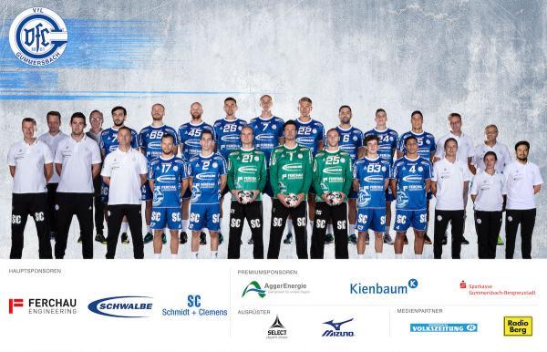 VfL Gummersbach, Mannschaftsfoto DKB Handball-Bundesliga, Saison 2018/19