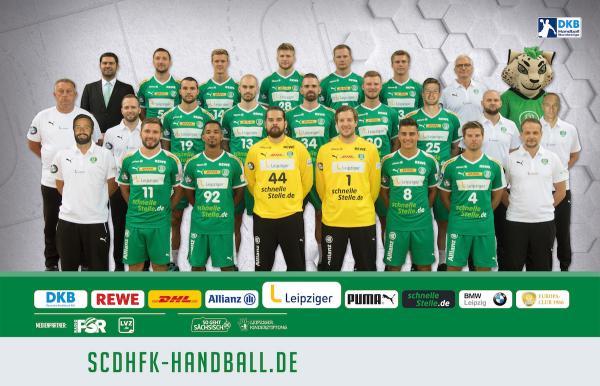 SC DHfK Leipzig, Mannschaftsfoto DKB Handball-Bundesliga, Saison 2018/19