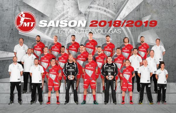 MT Melsungen, Mannschaftsfoto DKB Handball-Bundesliga, Saison 2018/19