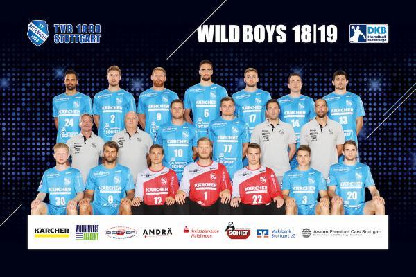 TVB 1898 Stuttgart, Mannschaftsfoto DKB Handball-Bundesliga, Saison 2018/19