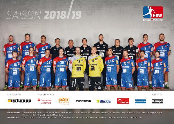 HBW Balingen-Weilstetten, Saison 2018/19