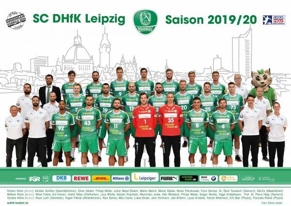 SC DHfK Leipzig, Mannschaftsfoto Saison 2019/2020