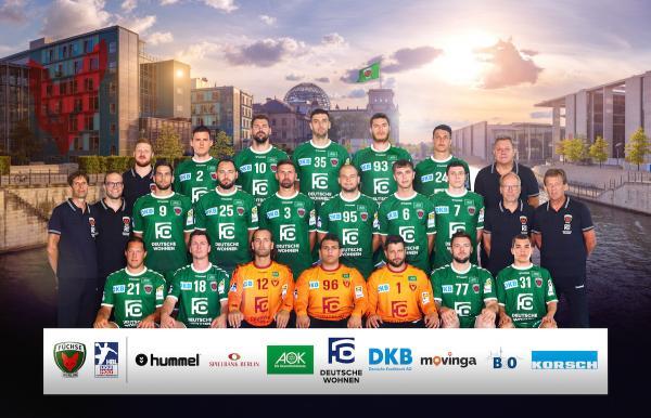 Füchse Berlin, Mannschaftsfotos Liqui Moly Handball-Bundesliga, Mannschaftsfotos Saison 2019/2020, Mannschaftsfotos 1. Handball-Bundesliga