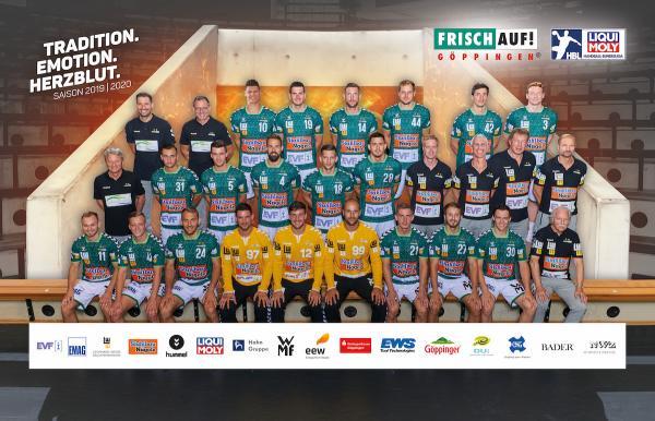 Frisch Auf Göppingen, Mannschaftsfotos Liqui Moly Handball-Bundesliga, Mannschaftsfotos Saison 2019/2020, Mannschaftsfotos 1. Handball-Bundesliga