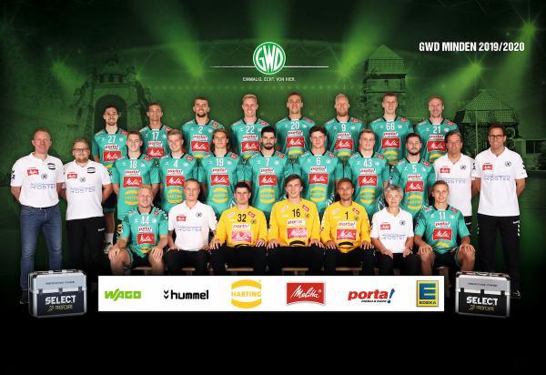 GWD Minden, Mannschaftsfotos Liqui Moly Handball-Bundesliga, Mannschaftsfotos Saison 2019/2020, Mannschaftsfotos 1. Handball-Bundesliga