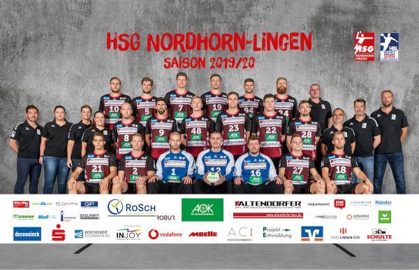 HSG Nordhorn-Lingen, Mannschaftsfotos Liqui Moly Handball-Bundesliga, Mannschaftsfotos Saison 2019/2020, Mannschaftsfotos 1. Handball-Bundesliga