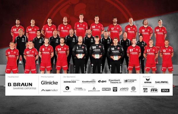 MT Melsungen, Mannschaftsfotos Liqui Moly Handball-Bundesliga, Mannschaftsfotos Saison 2019/2020, Mannschaftsfotos 1. Handball-Bundesliga