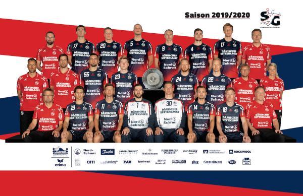 SG Flensburg-Handewitt, Mannschaftsfotos Liqui Moly Handball-Bundesliga, Mannschaftsfotos Saison 2019/2020, Mannschaftsfotos 1. Handball-Bundesliga