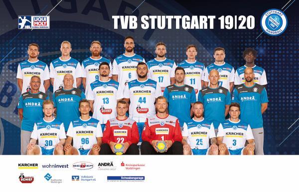 TVB Stuttgart, Mannschaftsfotos Liqui Moly Handball-Bundesliga, Mannschaftsfotos Saison 2019/2020, Mannschaftsfotos 1. Handball-Bundesliga