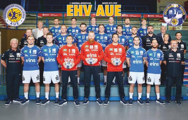 EHV Aue, Mannschaftsfoto 2. Bundesliga Saison 2019/2020