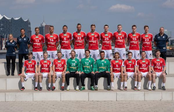 HSV Hamburg, Handball Sport Verein Hamburg, Mannschaftsfoto 2. Bundesliga Saison 2019/2020
