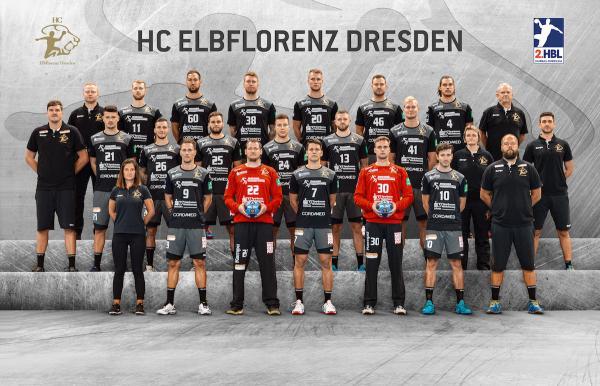 HC Elbflorenz Dresden, Mannschaftsfoto 2. Bundesliga Saison 2019/2020
