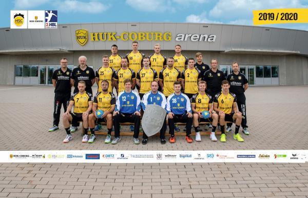 HSC 2000 Coburg, HSC Coburg, Mannschaftsfoto 2. Bundesliga Saison 2019/2020