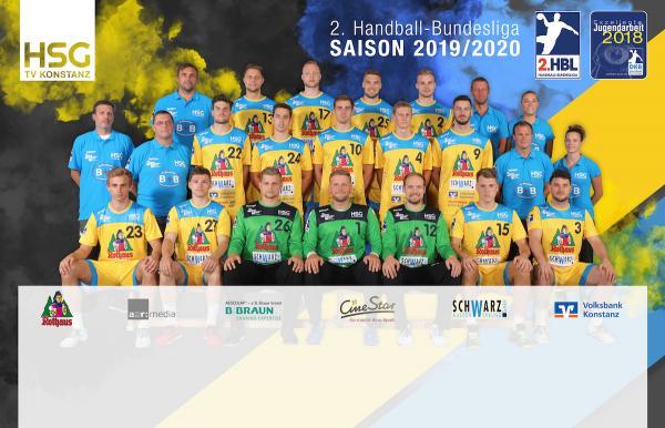 HSG Konstanz, Mannschaftsfoto 2. Bundesliga Saison 2019/2020