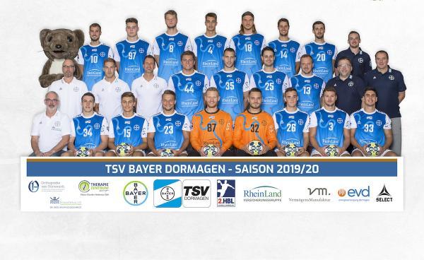 TSV Bayer Dormagen, Mannschaftsfoto 2. Bundesliga Saison 2019/2020