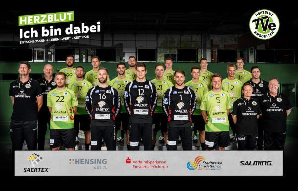 TV Emsdetten, Mannschaftsfoto 2. Bundesliga Saison 2019/2020