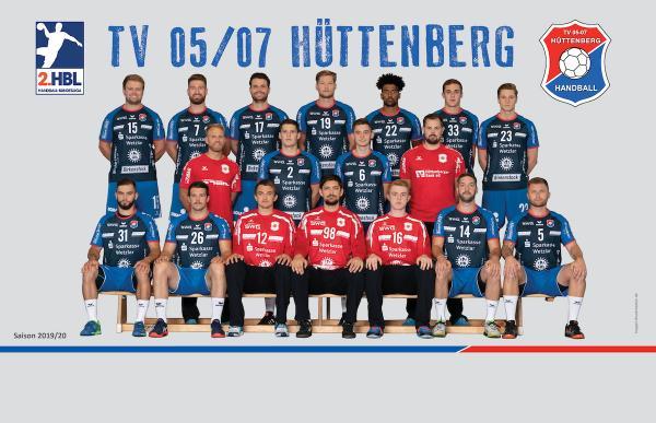 TV Hüttenberg, Mannschaftsfoto 2. Bundesliga Saison 2019/2020