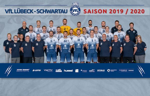 VfL Lübeck-Schwartau, Mannschaftsfoto 2. Bundesliga Saison 2019/2020