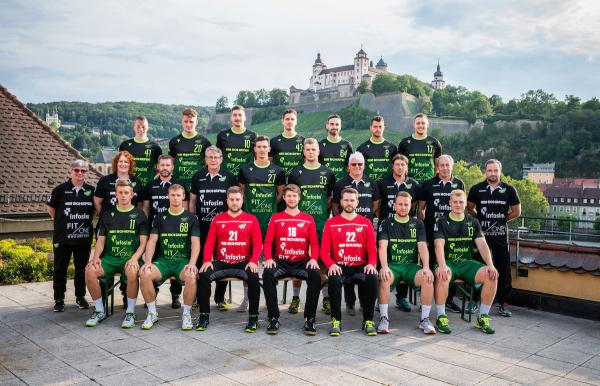 DJK Rimpar Wölfe, Mannschaftsfoto 2. Bundesliga Saison 2019/2020
