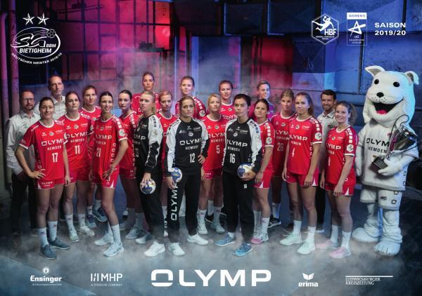 Mannschaftsfoto - SG BBM Bietigheim, HBF 2019/20
