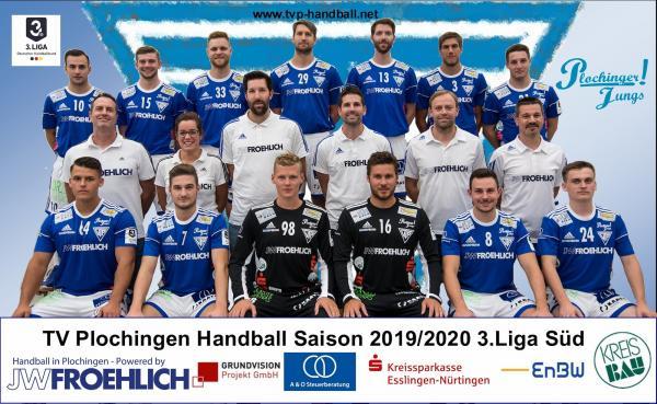 TV Plochingen, Mannschaftsfoto Saison 2019/2020