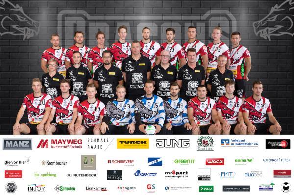 SGSH Dragons, SG Schalksmühle-Halver, Mannschaftsfoto Saison 2019/2020