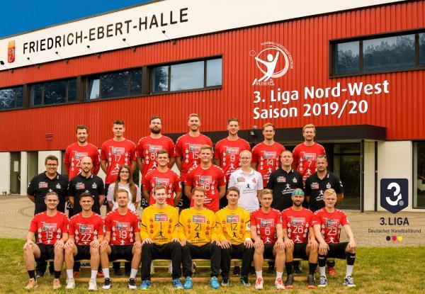 Ahlener SG, Mannschaftsfoto 2019/2020, 3. Liga