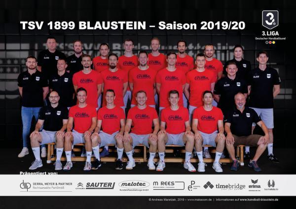 TSV 1899 Blaustein, Mannschaftsfoto 2019/2020, 3. Liga