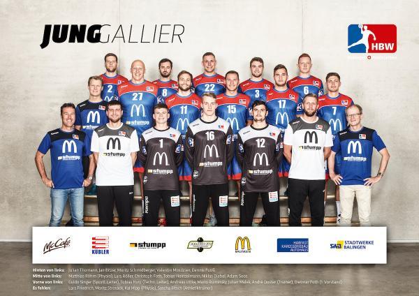 HBW Balingen-Weilstetten II, Mannschaftsfoto 2019/2020, 3. Liga